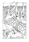 Coloriages animaux de fantasie
