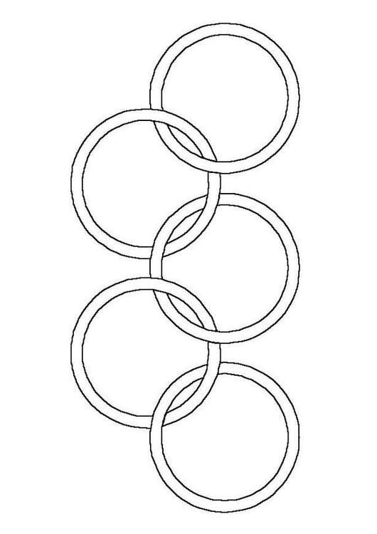 coloriage anneaux olympiques