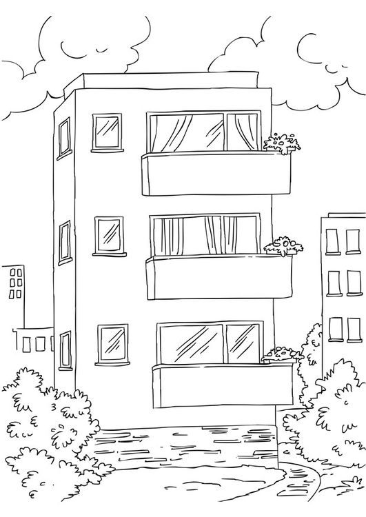 Coloriage appartement