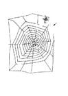 Coloriage araignée dans labyrinthe