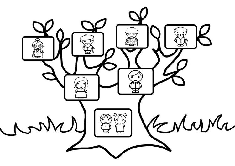 Coloriage arbre de famille img 26873 - Coloriage de la famille ...