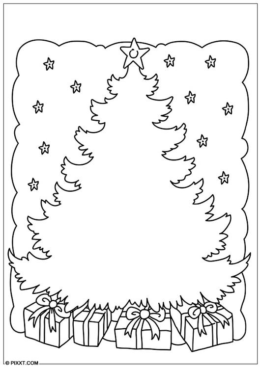 Coloriage arbre de no l img 28179 images - Arbre de noel dessin ...
