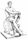 Coloriage Ares, un dieu Grec