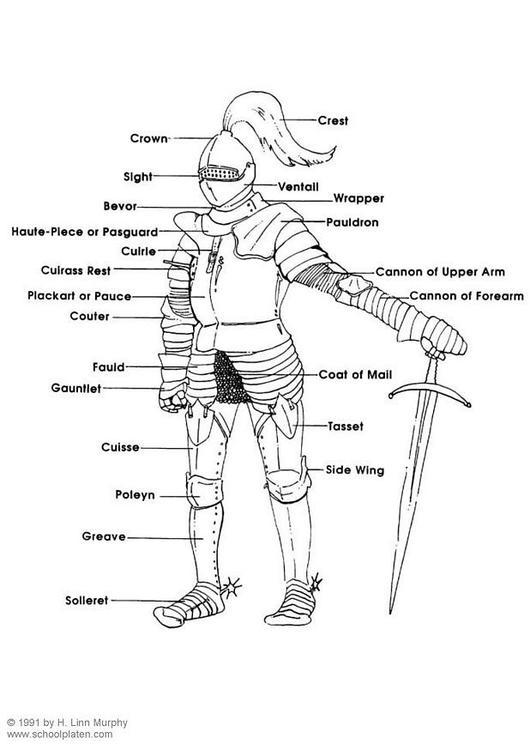Coloriage armure img 3830 - Dessin armure ...