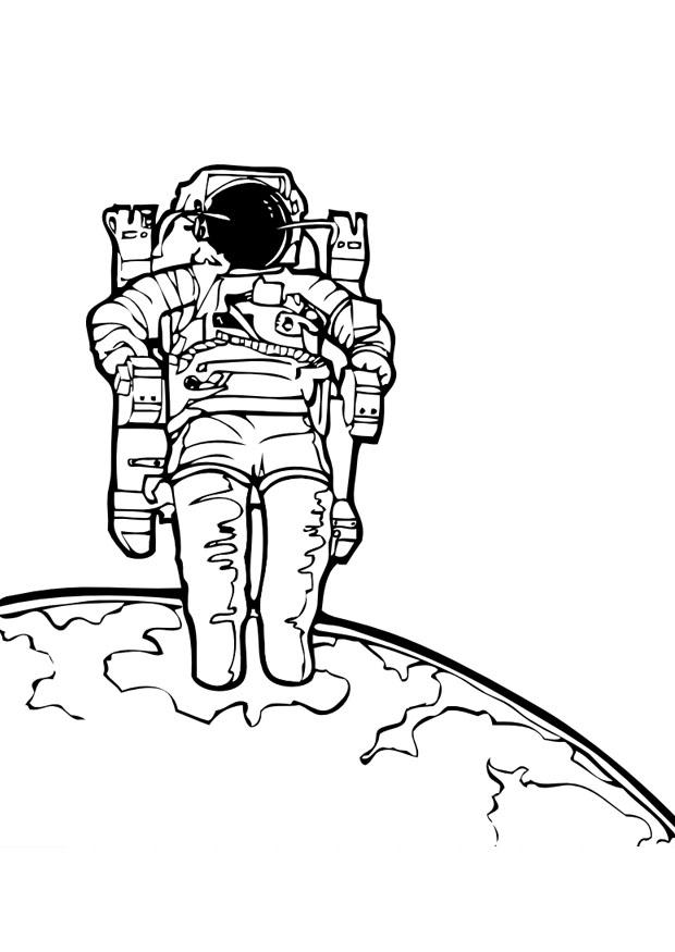 Coloriage astronaute img 10036 - Dessin d astronaute ...