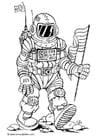 Coloriage astronaute