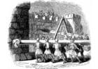 Coloriage attaque du chateau