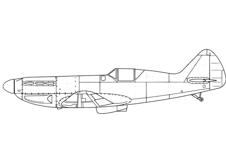 Coloriage Avion - D551