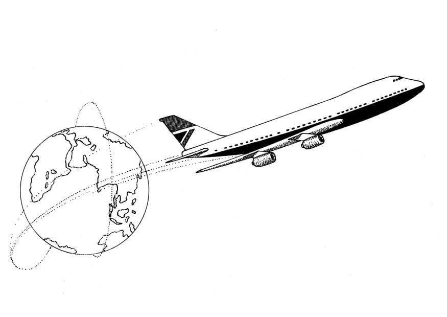 Coloriage avion img 9405 for Disegno terra da colorare