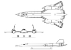 Coloriages avion - Lockheed SR-71A