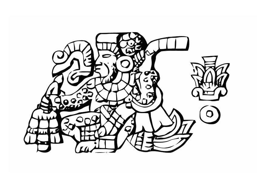 Coloriage azt ques obs ques img 11007 images - Dessin azteque ...
