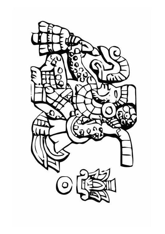 Coloriage azt ques obs ques img 11007 - Dessin azteque ...