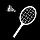 Coloriage badminton