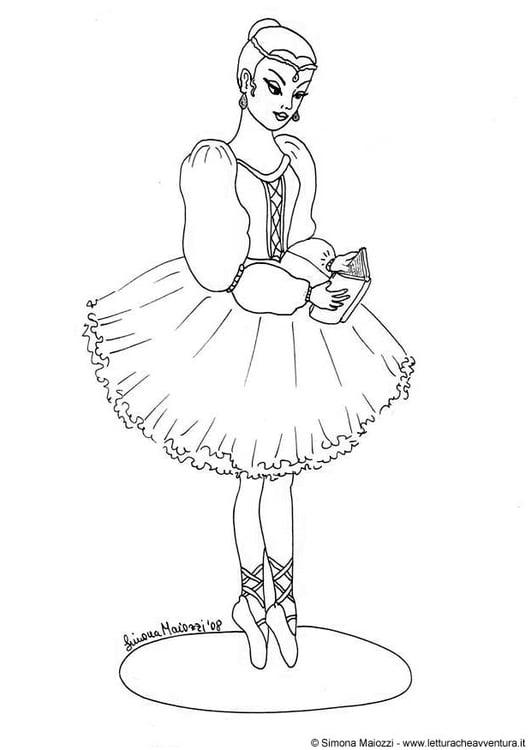 Kleurplaat Disney Prinsessen Verjaardag Coloriage Ballerine Img 12348