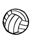 Coloriage ballon de volley