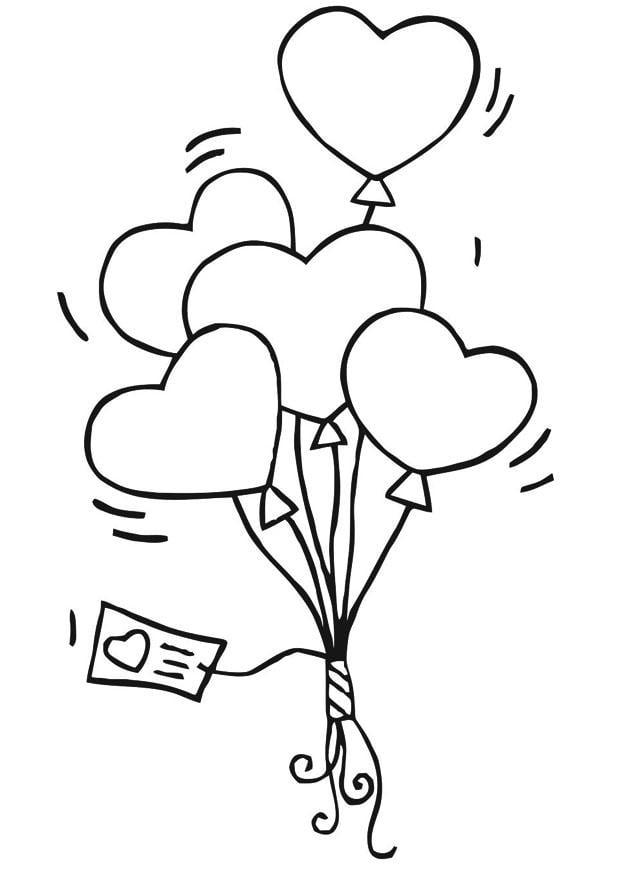 Coloriage Ballon En Coeur.Coloriage Ballons Coeurs Img 21188 Images