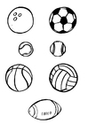 Coloriages ballons-sports