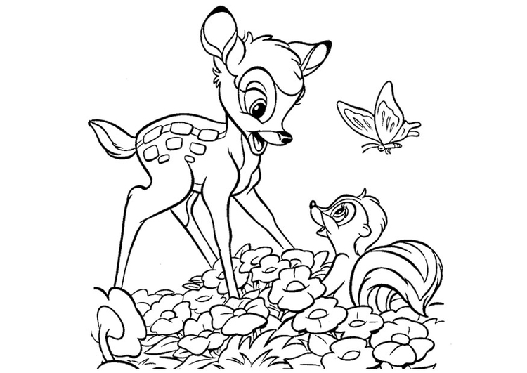 Coloriage bambi img 20747 images - Bambi coloriage ...