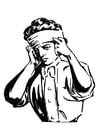 Coloriage bandage à la tête
