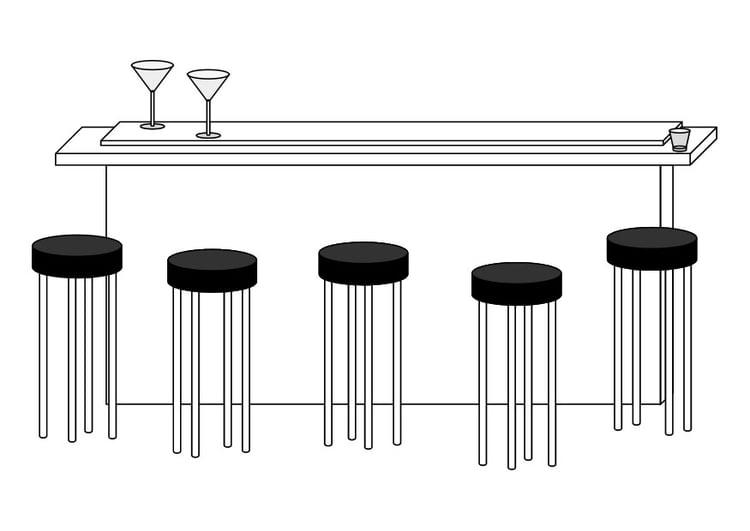 coloriage bar img 29603. Black Bedroom Furniture Sets. Home Design Ideas
