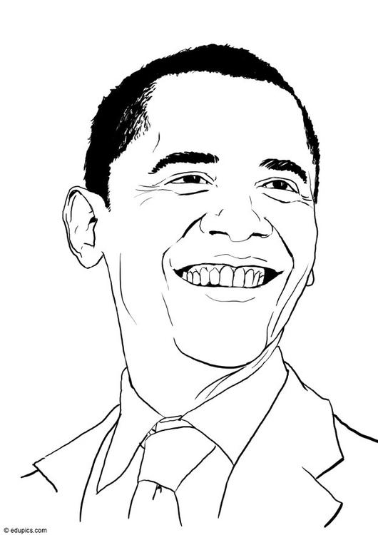 Coloriage barack obama img 15460 for Barack obama coloring page