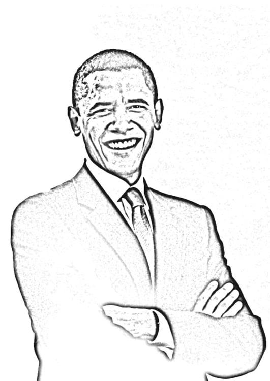 Coloriage Pr 233 Sident Obama Img 12651