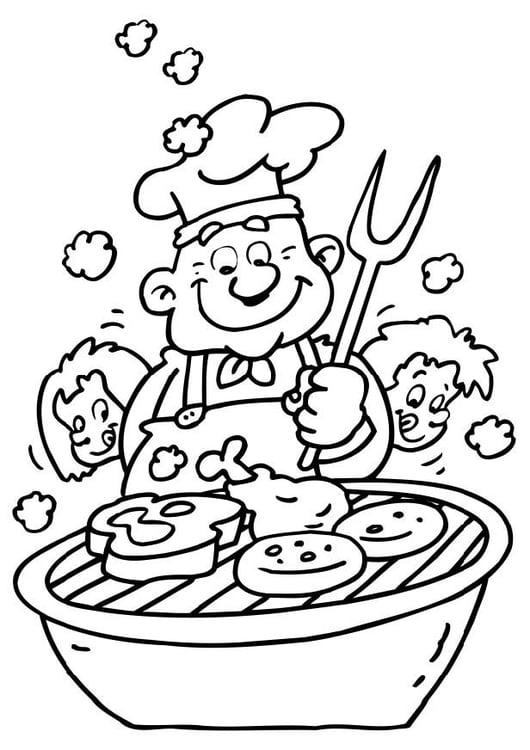 Dessin Barbecue coloriage barbecue - img 6477