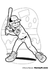 Coloriage baseball batteur