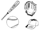 Coloriages base-ball