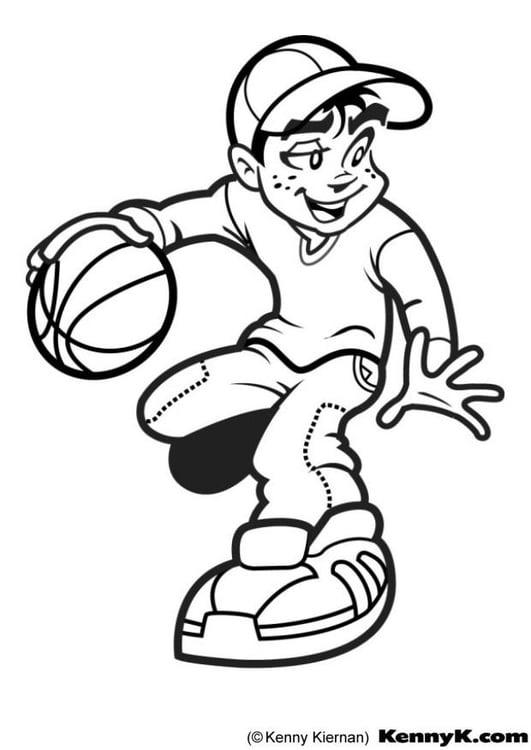 coloriage basket ball i7020