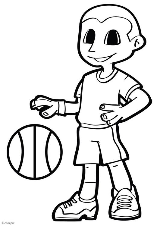 Coloriage basket img 26045 images - Dessin basket ...