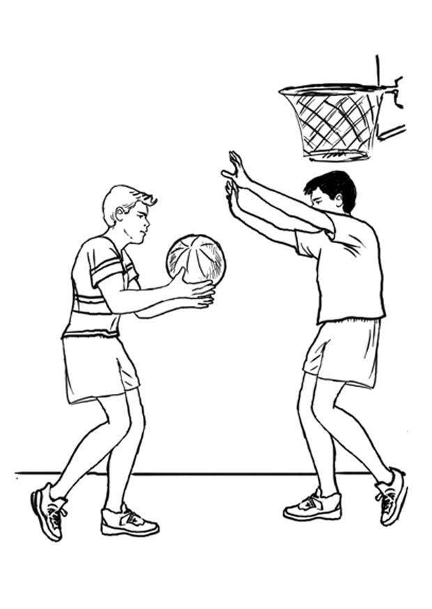 coloriage basketball i7877