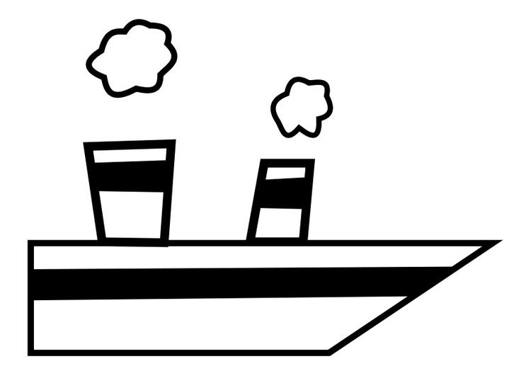 Coloriage bateau à vapeur - img 27379