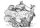 Coloriage bateau à voile