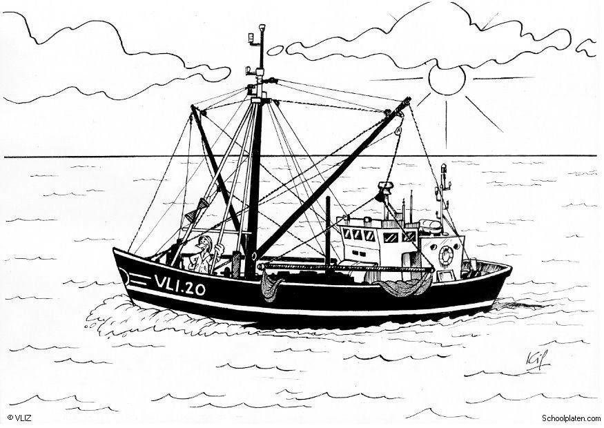 Coloriage bateau de p che img 5456 - Coloriage petit bateau imprimer ...