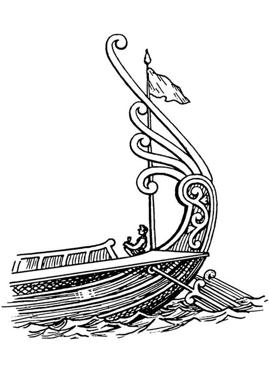 Coloriage Bateau Viking.Coloriage Bateau Poupe Avec Gouvernail Img 18827
