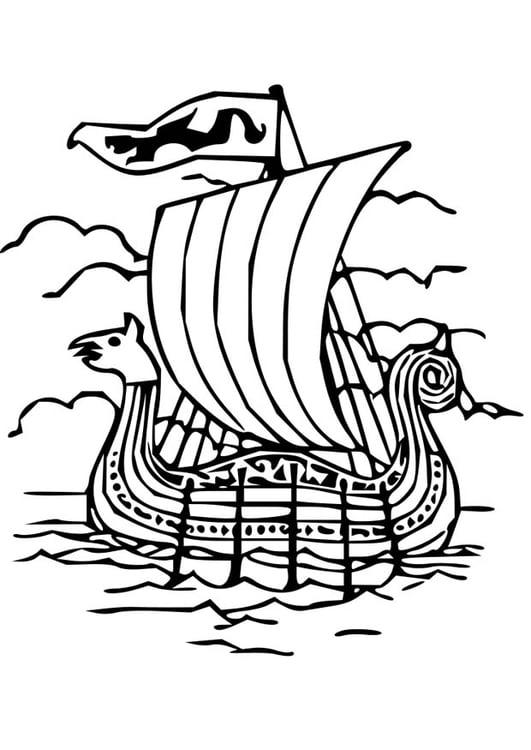 Coloriage bateau viking img 18669 - Dessin de viking ...