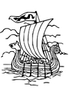 Coloriage bateau Viking