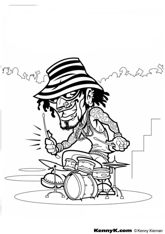 Coloriage batteur