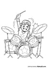 Coloriages batteur