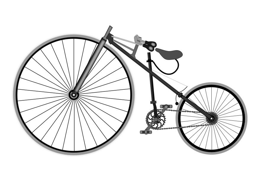 Coloriage bicyclette antique img 27110 - Dessin bicyclette ...