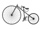 Coloriage bicyclette antique