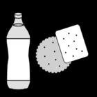 Coloriage boisson et biscuit