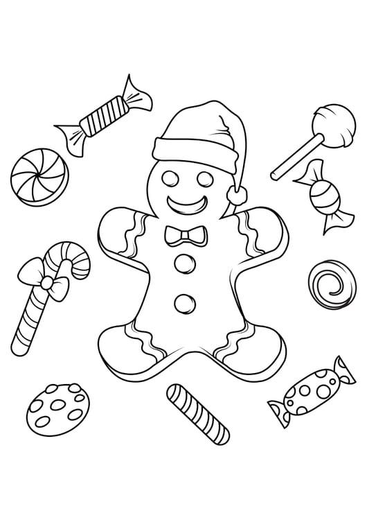 Coloriage Bonbons De Noel Coloriages Gratuits A Imprimer Dessin 31073