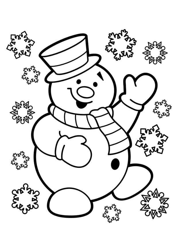 Coloriage bonhomme de neige - Coloriages Gratuits à Imprimer