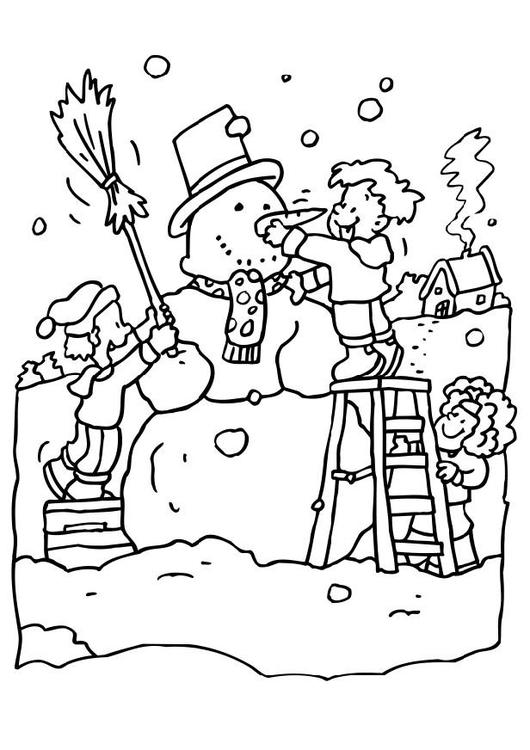 Coloriage bonhomme de neige img 6546 - Bonhomme de neige coloriage ...