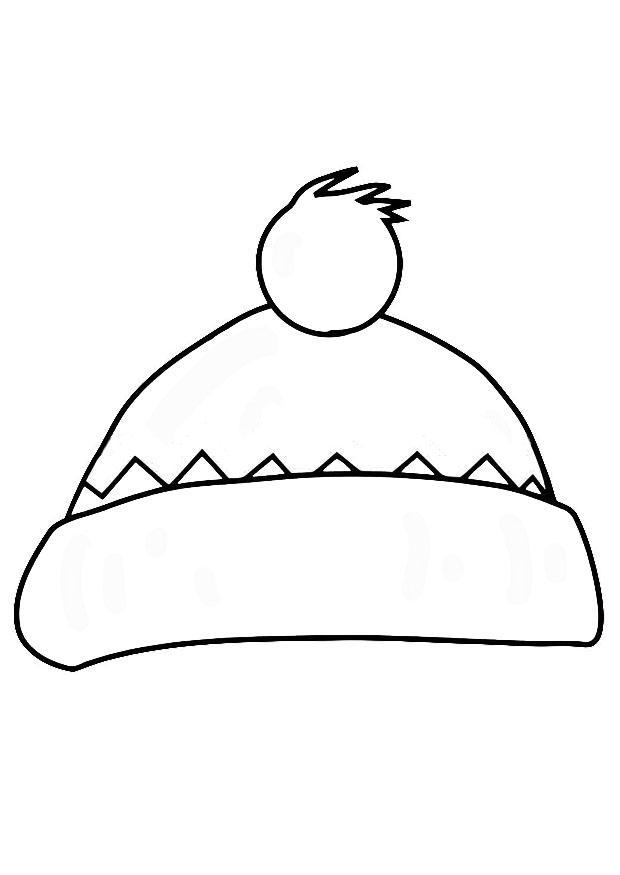 Coloriage bonnet img 19372 - Dessin de bonnet ...