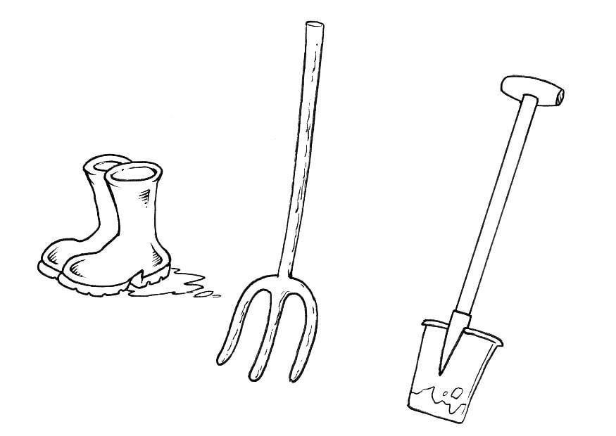 Dessin outils de jardin for Dessin outils jardinage