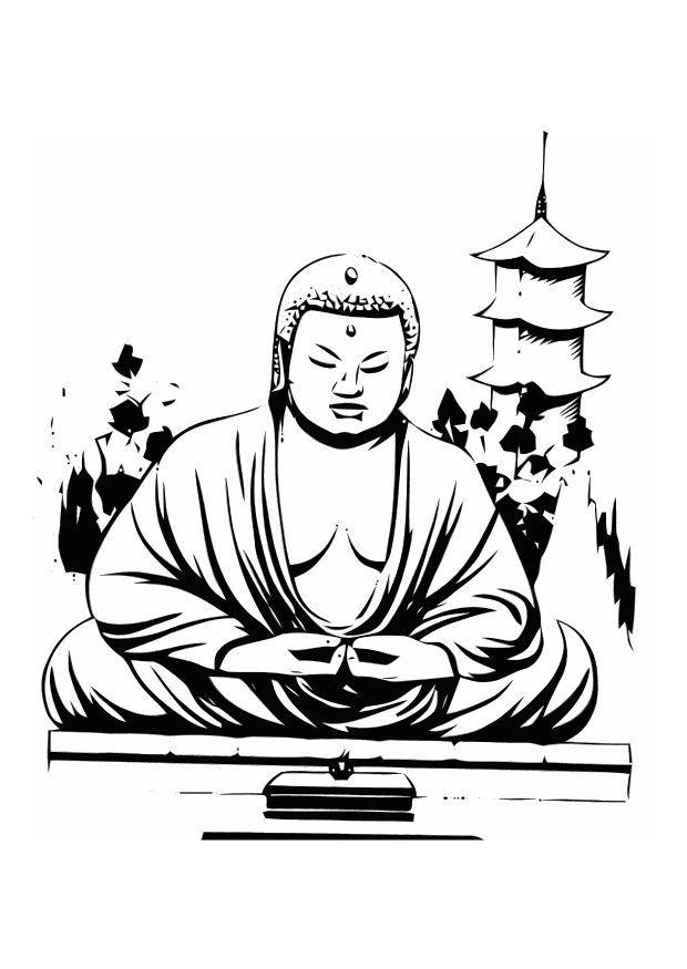 Bouddha Dessin En Noir Et Blanc