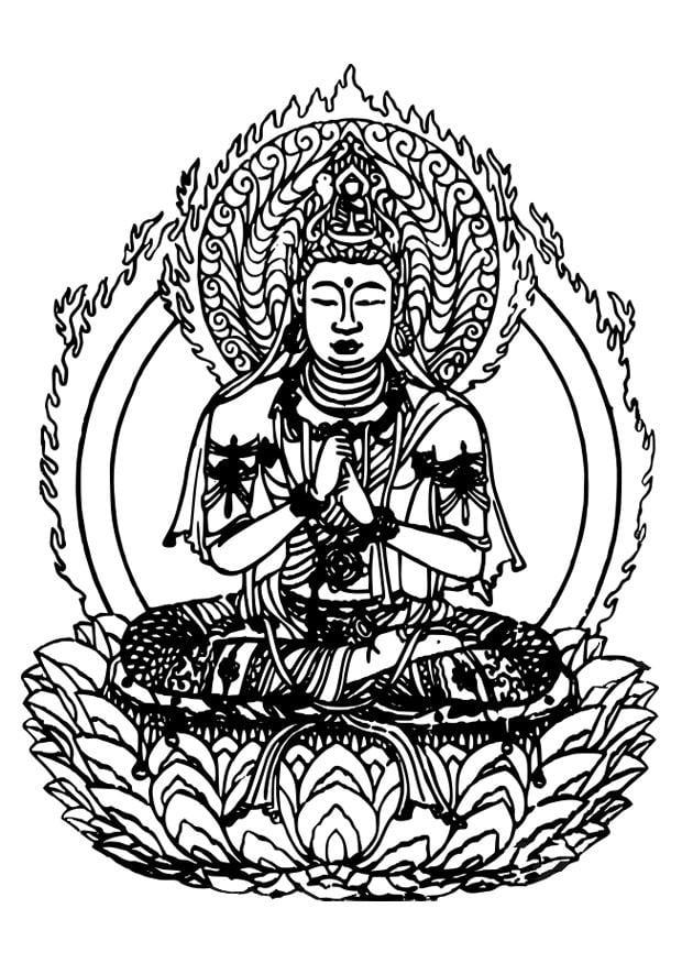 Volwassen Kleurplaat Boeddha Coloriage Bouddha Coloriages Gratuits 224 Imprimer